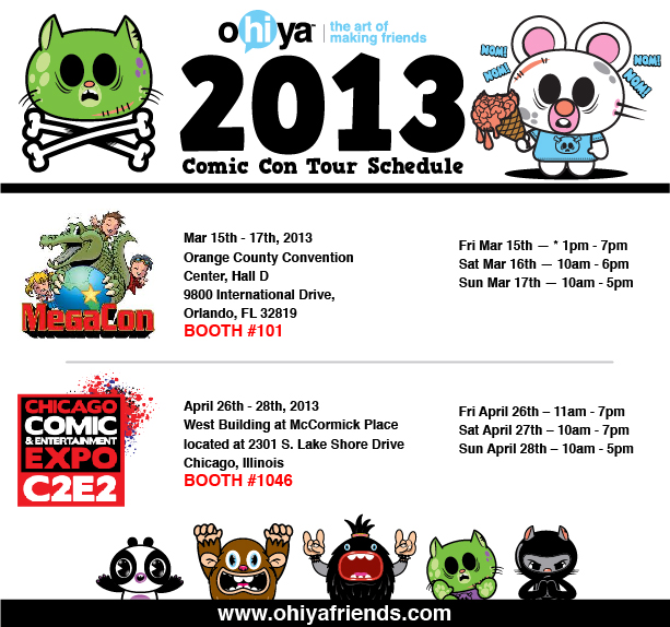 ohiya, ohiyafriends.com, ohiya friends, zombies, comic cons, cons, c2e2, megacon, zombuddiez, unicorns, farting unicorn
