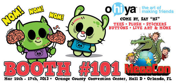 ohiya, megacon, orlando, megacon.com, zombies, zombuddiez, ohiyafriends, tharp, tharp illustration, monsters, unicorns, farts, gnomes, ninjas, fun